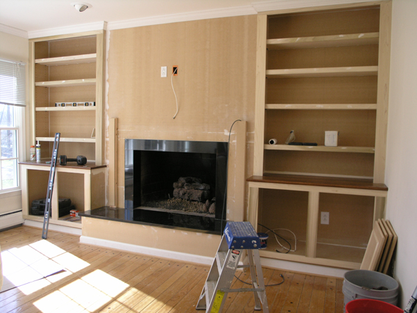 Fireplace Bookcase Amazing Bookcases